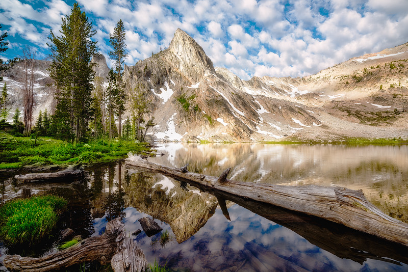 Morning clouds at Twin Lake Sawtooth National forest