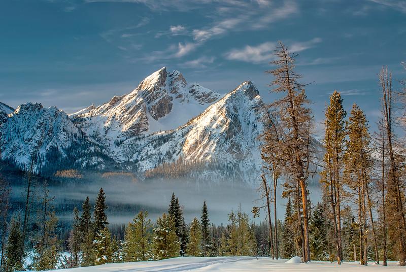 Morning Winter Light on Mt. McGown, Idaho