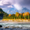 Snake River with Tetons Autumn