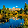Morning light on the Tetons fall