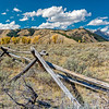 Tetons and pole fence Wyoming