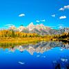 Schwabacker Landing Tetons reflection fall