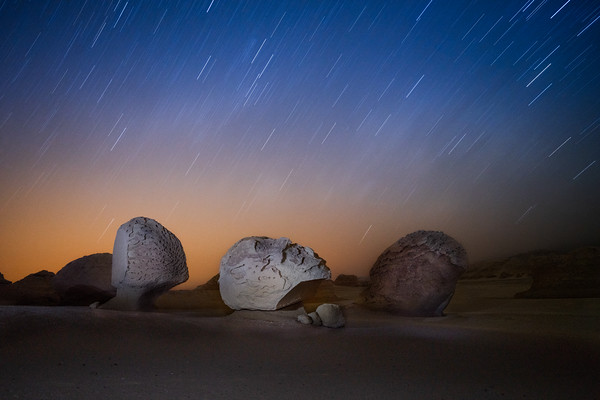 Star Trails and the Rocks