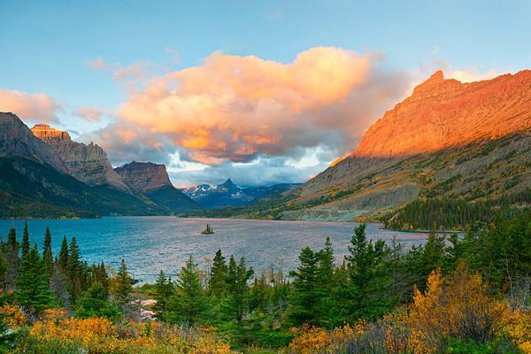 #286 Sunrise, St. Mary Lake, Glacier NP, MT