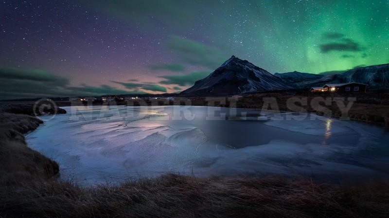 Arnarstapi Frozen Lake