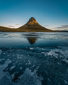 Kirkjufell Reflection on Ice