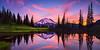 #302 Tipsoo Lake Sunset pano, Mt. Rainier NP, WA