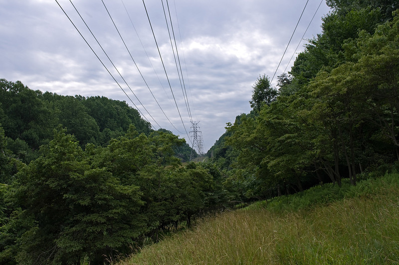 Overcast with power lines