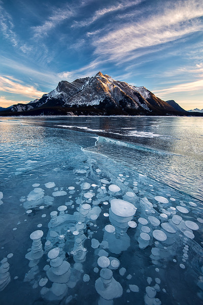 #305 Ice Bubbles, Abraham Lake, Alberta, Canada
