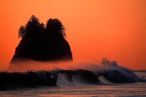 #31 Second Beach Sunset, Olympic NP, WA
