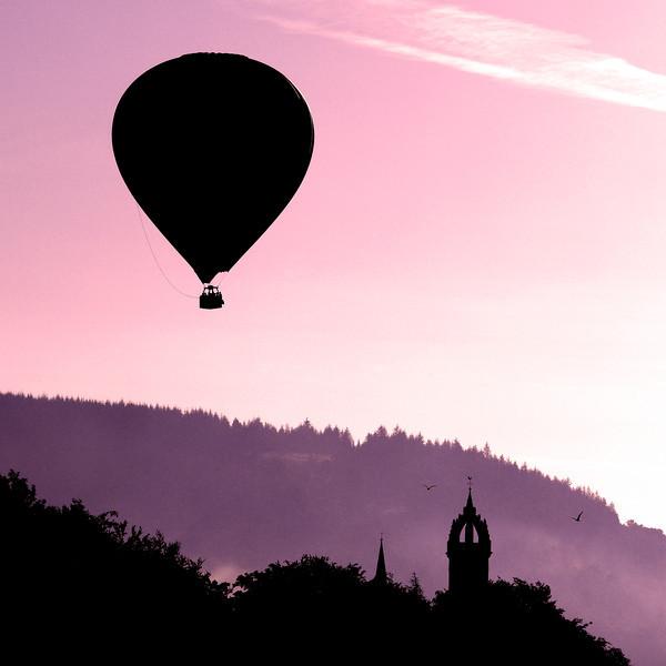 Balloon over Peebles - Original