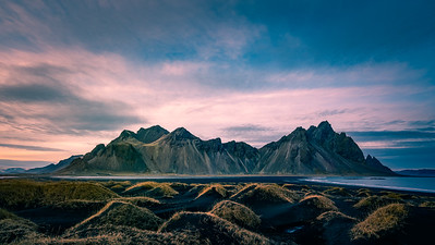 Vestrahorn Colorful Sky