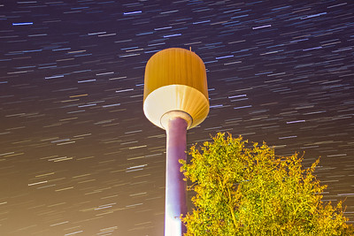 Startrails over the Watertower