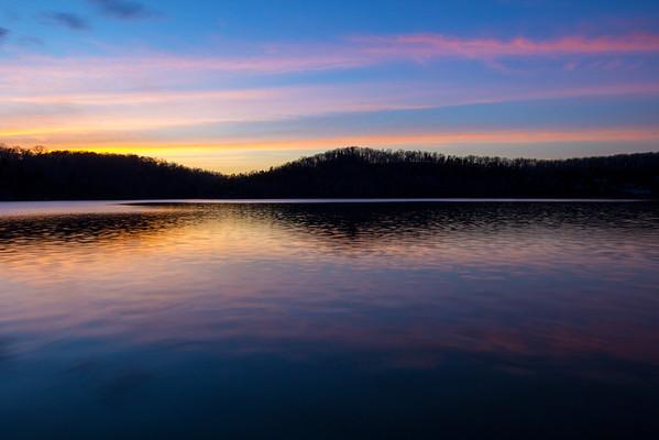 Sunset on Claytor