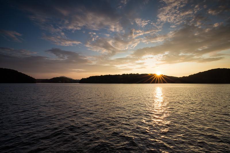 Golden Sunset on Claytor Lake, VA