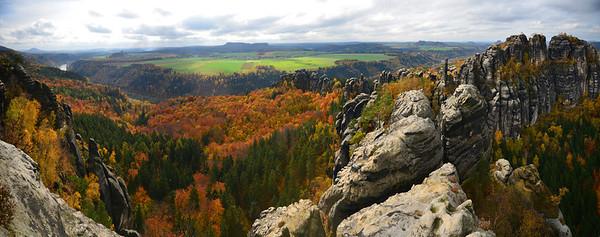 Sachische-Schweiz in Autumn