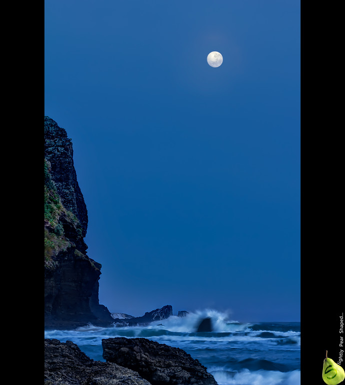 Piha - chasing Luna  5 RAW HDR 100mm f/5.6 1/5th sec for the action shot with the waves.