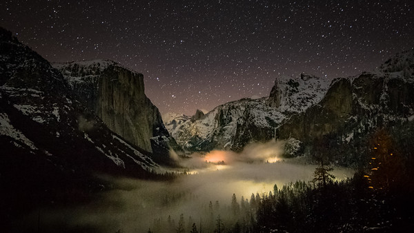 Yosemite Valley fog