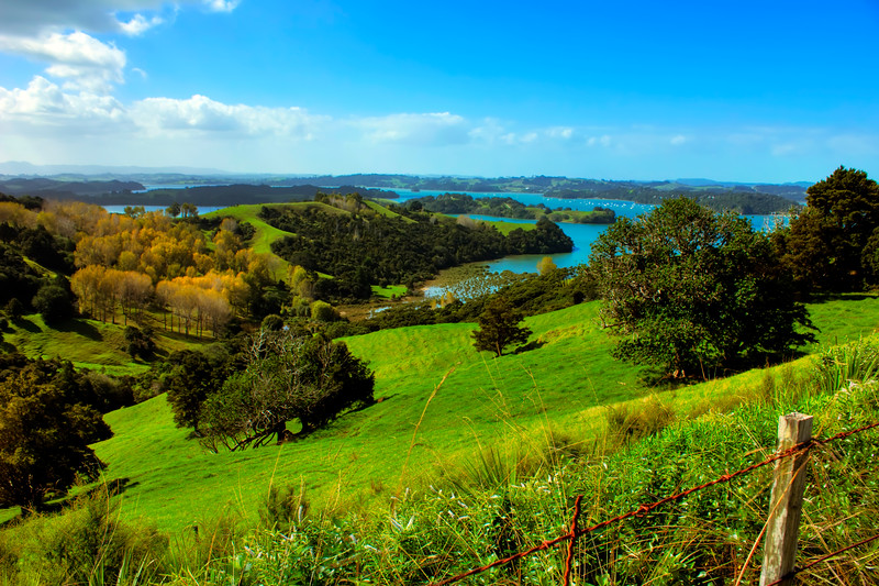 Mahurangi Harbour:  Taken from the Roadside looking across the harbor and the Pukapuka inlet