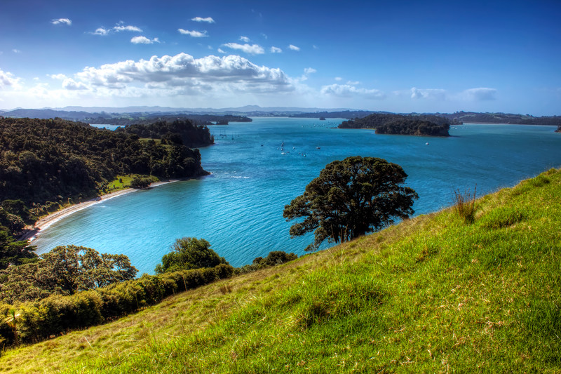 Mahurangi Regional Park.  Otuawaea Bay in the Mahurangi Harbour.  North of Orewa Style: HDR
