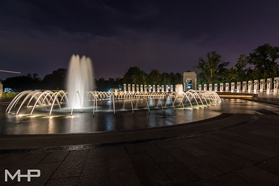 WWII Memorial at Night