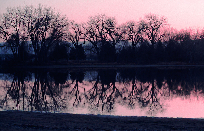 Sunset on the Lake, 2001<br /> Film Photography