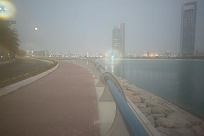 2014_08_10, Supermoon behind Marina Mall, Abu Dhabi