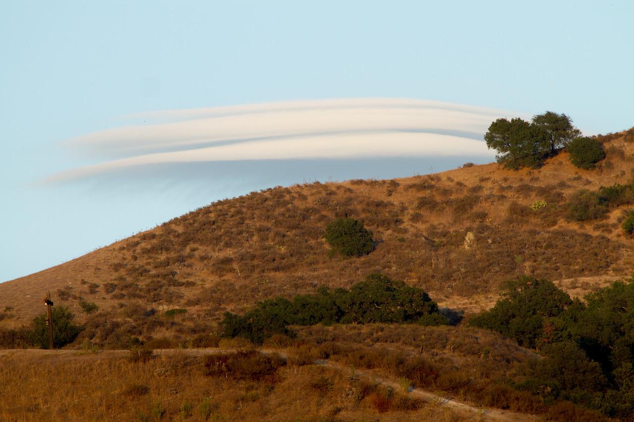 Altocumulus Standing Lenticularis clouds