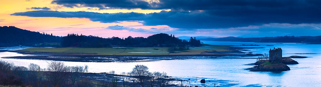 Sunset Overlooking Castle Stalker
