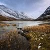 Loch Achtriochtan With Snow Capped Mountains