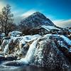 Frozen Waterfall at Buchaille Etive Mor