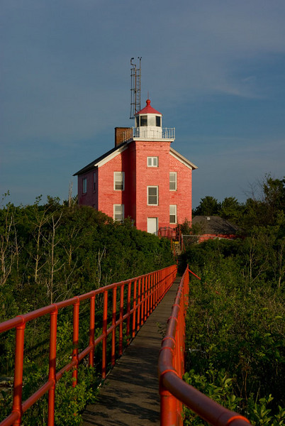 The lighthouse at Marquette, Michigan.  2007