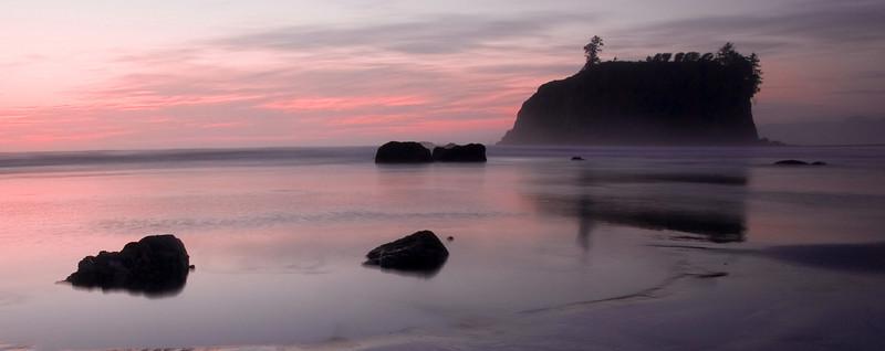 Ruby beach tidal sunset Pano