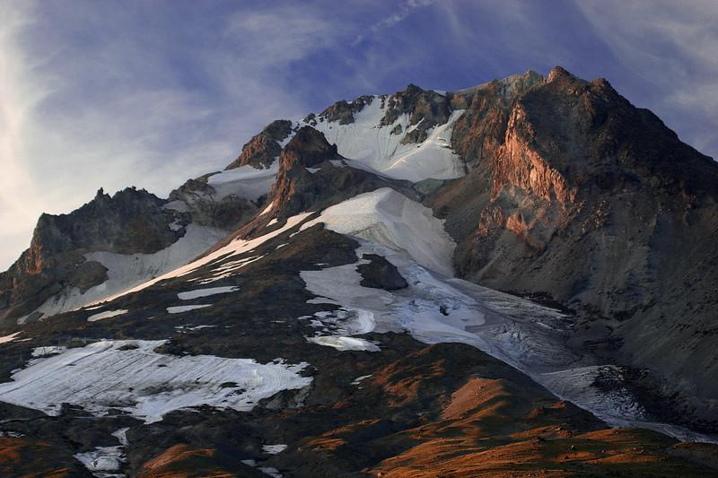 Mt. Hood S. face Sunset