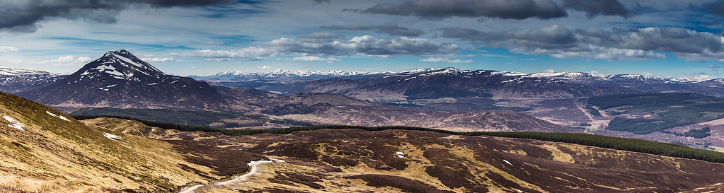 Panoramic View Overlooking Schiehallion