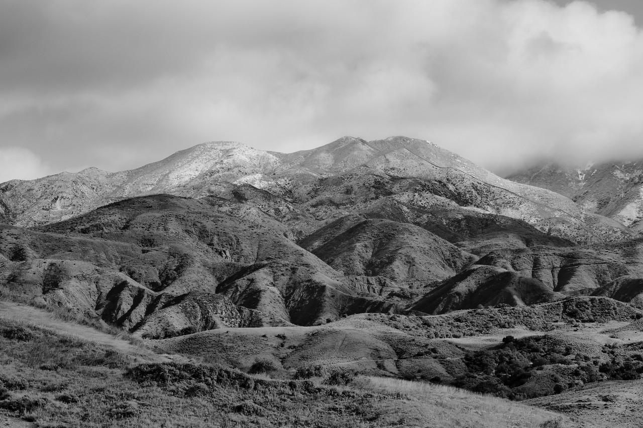 A fresh dusting of snow on Modjeska peak
