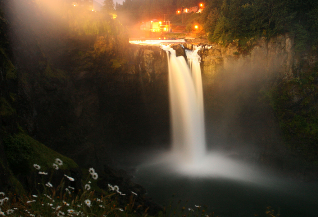 Snoqualmie Falls Night
