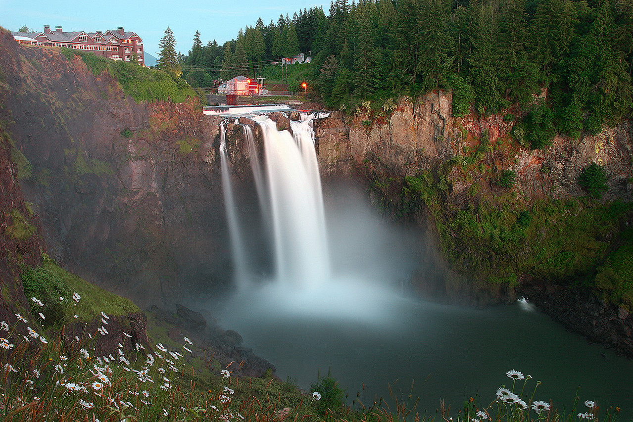 Snoqualmie Falls Sunset