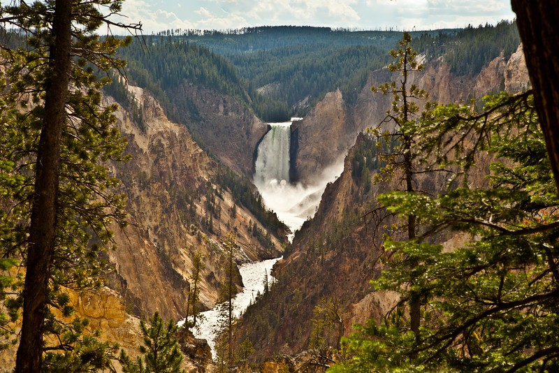 Lower Falls, Yellowstone River, Yellowstone national park,  national park, waterfall, waterfalls,