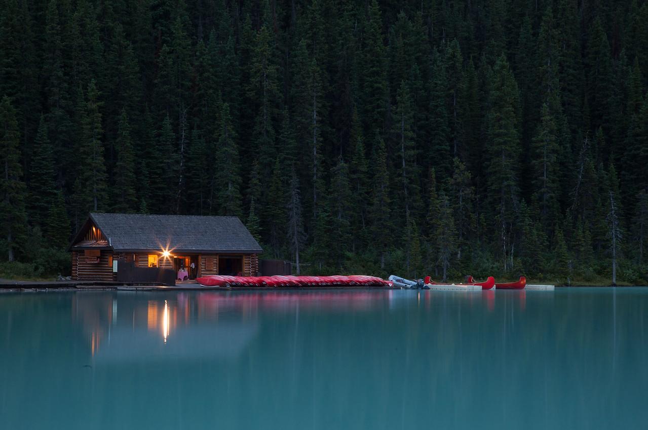Boathouse at Lake Louise, Canada