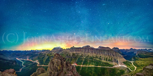 """Going-to-the-Sun Road Aurora"""