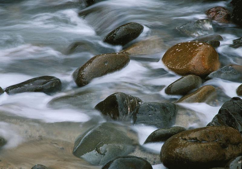 Waves across rocks, Big Sur, California