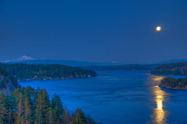 Moonlight over Mt. Baker