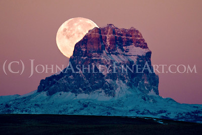 Chief Mountain Moonset