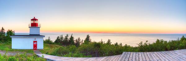 Long Eddy Point Light at sunset