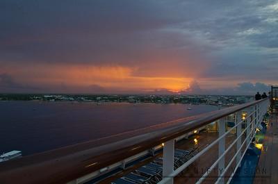 Sunrise over the Cayman Island