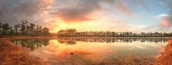 Sunrise @ Pine Glades Lake (panorama) Long Pine Key, Everglades National Park