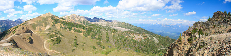 Panaomic View from Top-Gondola at Kicking Horse Resort