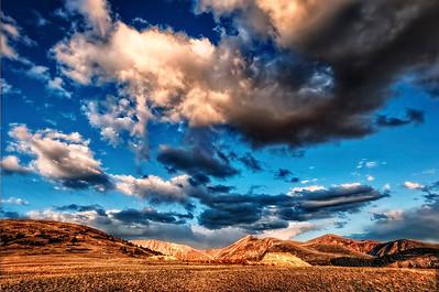 The drama of sunset above Leadville, Colorado
