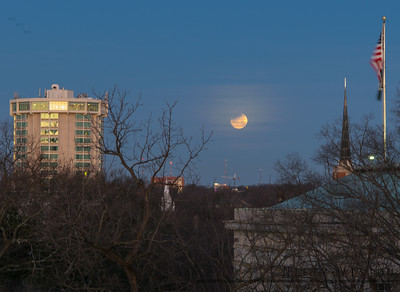 Partial Lunar Eclipse over Raleigh